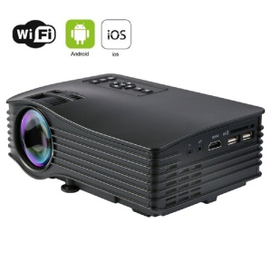 El centro de información de uc36 + mini HDMI USB WiFi proyector Home Theater Cinema - negro / enchufe de la UE