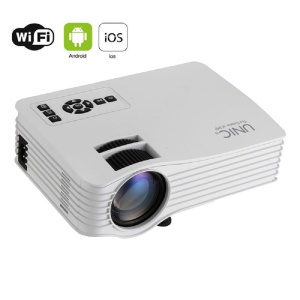 UNIC UC36+ Mini LED Projector Multi-Media HDMI USB Home Theater Cinema with WiFi Band - White / EU Plug