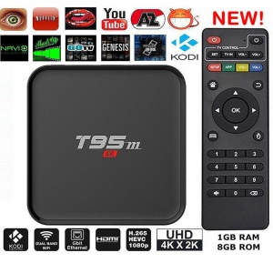 T95M Android 5.1 Amlogic S905X TV Box 1+8GB Kodi 16.0 Quad Core WiFi 2.4G Streaming Media Player - UK Plug