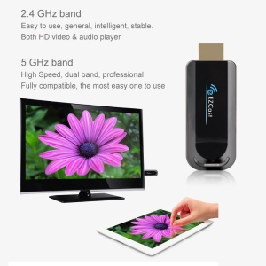 EZCAST HDMI HD WiFi Display DLNA Airplay Dongle Receiver 1080P 2.4G / 5.0G Wireless TV Stick for iOS Android Tablet PC