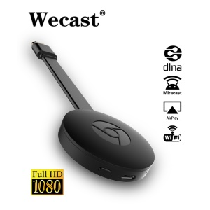 Wecast E8 Streaming Dongle Mirroring DLNA Miracast WiFi Display Dongle - Preto