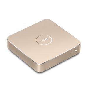 VOYO VMac Mini PC 4+64GB Licensed Windows 10 Intel Apollo Lake Celeron N3450 4K HD - Gold Color