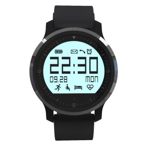 BW140 Bluetooth Smart Watch with Pedometer/Heart Rate/Sedentary Reminder - Black