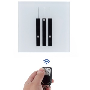 3 Gang Touch Control Light Switch with RF Remote Controller 86x86