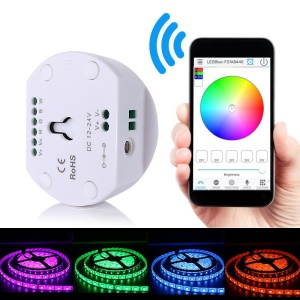 BQB/CE/RoHS Certified 4-channel Bluetooth RGB Controller IP20 Waterproof