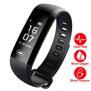 R5MAX Convenient Fitness Tracker Bluetooth 4.0 Smart Bracelet Watch Wristband with Heart Rate Monitor for IOS Android - Black