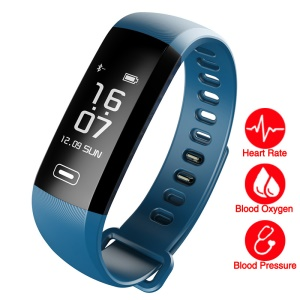 R5MAX Fitness Tracker Bluetooth 4.0 Intelligent Bracelet Watch Wristband with Heart Rate Monitor for IOS Android - Blue