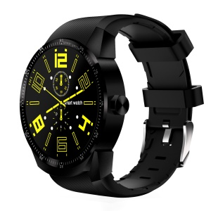 K98H GPS Sport Smart Watch 3G Watch Phone with Android 4.1 1.3-inch Screen - Black