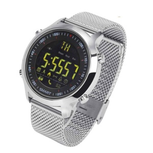 ZEBLAZA VIBE 5ATM Impermeable 365 Días Stand-by Deportes Smart Watch para iOS Android - Plata