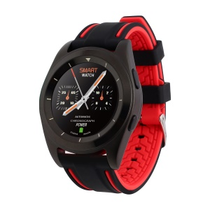 G6 Sports Bluetooth 4.0 Smart Watch Heart Rate Monitor Pedometer for IOS Android - Black / Red