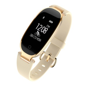 S3 Bluetooth 4.0 Fitness Tracker Dynamic Heart Rate Smart Health Bracelet for IOS Android - Gold Color
