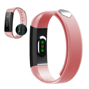 ID115HR for iPhone Android Smartphone Heart Rate Smart Band Healthy Fitness Tracker Bluetooth Wristband - Red