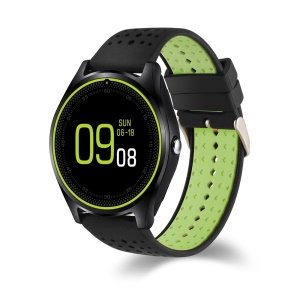 V9 1.22-inch 2G Smart Bluetooth Watch Phone Multi-functional Fitness Tracker - Black