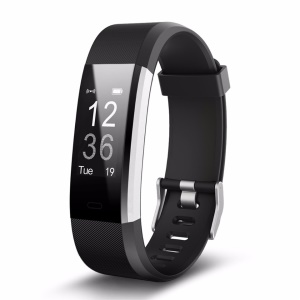 ID115 Plus Waterproof Smart Bracelet Bluetooth Activity Sports Tracker Heart Rate Monitor - Black