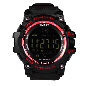 EX16 Waterproof Barometer Sports Watch Fitness Tracker Bluetooth Smart Watch - Red