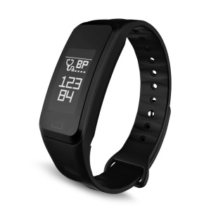 R1 Fitness Tracker Bluetooth 4.0 Smart Bracelet Watch Wristband for IOS Android - Black