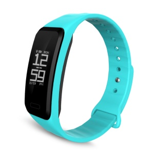 R1 Health Monitor Bluetooth 4.0 Smart Bracelet Watch Wristband for IOS Android - Cyan