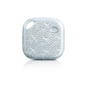 Anti-lost Mini Smart Tracker Multi-functional Bluetooth 4.0 Lost Thing Locator - White Flower