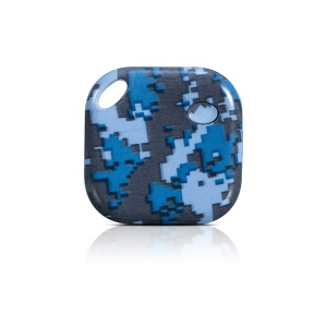 Patterned Bluetooth 4.0 Anti-lost Mini Smart Tracker Tag Voice Recording Lost Thing Locator - Navy Camouflage