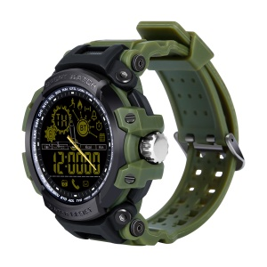 DX16 Luminous Round Screen Waterproof Healthy Step Monitor Smart Watch - Army Green