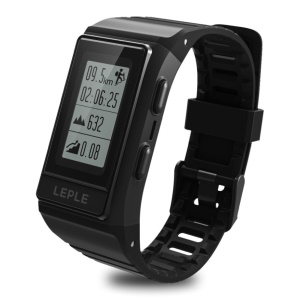 S909 GPS Smart Watch Sleeping Monitor IP68 Waterproof Bluetooth Wristwatch for iOS Android - Black