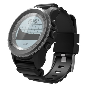 S968 GPS Smart Sleeping Monitor IP68 Waterproof Bluetooth Wristwatch for iOS Android - Black
