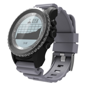 S968 GPS Smart Watch Sleeping Monitor IP68 Waterproof Bluetooth Wristwatch for iOS Android - Grey