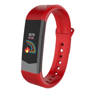 B30 3D UI 0.96 inch Colorful Display Sleeping Heart Rate Monitor Bluetooth 4.0 Smart Band - Red