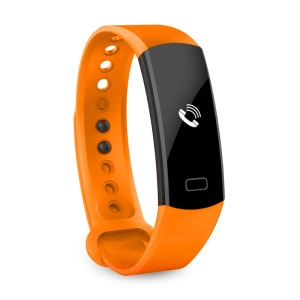 C07 0.91 inch OLED Display Waterproof Bluetooth V4.0 Smart Bracelet Heart Rate Monitor for Android iOS - Orange