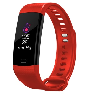 Y5 0.96 inch IPS Display Sleeping Heart Rate Monitor Bluetooth 4.0 Smart Wristband - Red