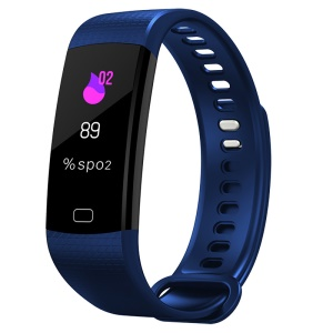 Y5 0.96 inch Colorful Display Sleeping Heart Rate Monitor Bluetooth 4.0 Wristband - Dark Blue