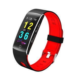 F10 0.96 inch Colorful Display Sleeping Heart Rate Monitor Bluetooth 4.0 IP68 Waterproof Sports Smart Band Bracelet for Android - Red