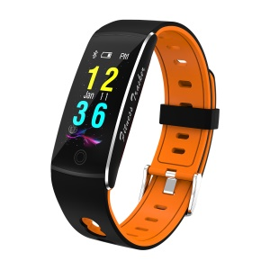 F10 Colorful Display 0.96 inch Bluetooth 4.0 Fitness Wristband Heart Rate Monitor Smart Wristband for Android - Yellow