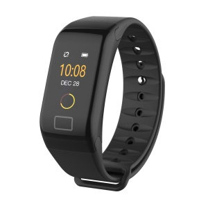 F1 Plus 0.66-inch Colored Screen Bluetooth 4.0 Waterproof Smart Fitness Band with Blood Pressure / Heart Rate / Blood Oxygen Monitoring - Black