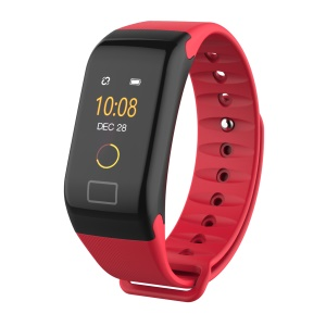 F1 Plus 0.66-inch Colored Screen Bluetooth 4.0 Smart Wrist Band with Blood Pressure / Heart Rate / Blood Oxygen Monitoring - Red