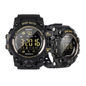 EX16S 5ATM Waterproof Bluetooth 4.0 Smart Sports Watch with TPU Watch Strap - Black