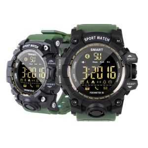 EX16S 5ATM Waterproof Bluetooth 4.0 Long Standby Time Smart Sports Watch with TPU Watch Strap - Army Green