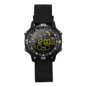 EX28A 5ATM Waterproof Bluetooth 4.0 Smart Sports Watch with Nylon Watch Strap - Black