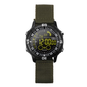 EX28A 5ATM Waterproof Bluetooth 4.0 Smart Remote Camera Watch with Nylon Watch Strap - Army Green
