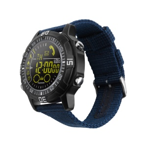EX28A 5ATM Waterproof Bluetooth Super Long Standby Time Smart Sports Watch with Nylon Watch Strap - Blue