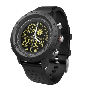 NX02 Waterproof Sports Smart Bluetooth 4.0 Health Watch - Black