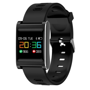 K88 Plus 1.0 inch Colorful Display Sleeping Blood Pressure Heart Rate Monitor Smart Wristband - All Black