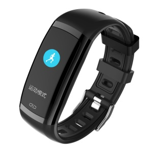 CD09 0.96-inch Colorful Display IP67 Bluetooth 4.0 Smart Wristband with Sleeping/Heart Rate/Blood Pressure Monitor - All Black