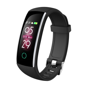C20 Colorful Display Heart Rate Monitor Bluetooth 5.0 Smart Wristband - Black