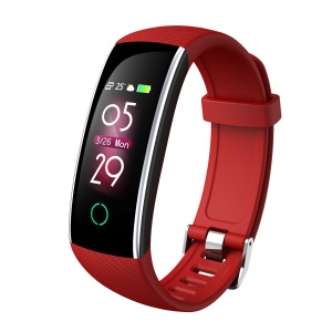 C20 Colorful Display Heart Rate Monitor Bluetooth 5.0 Smart Wristband - Red