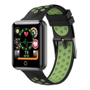 IQI Q18 Bi-color Pedometer Smart Sports Wristband 1.54 Inch Color Screen Waterproof Smart Bracelet - Black / Green