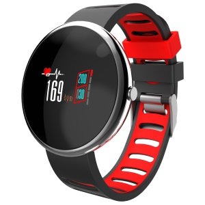 0.96 inch Colorized Screen Bluetooth 4.2 IP67 Waterproof Smart Wristband - Black / Red