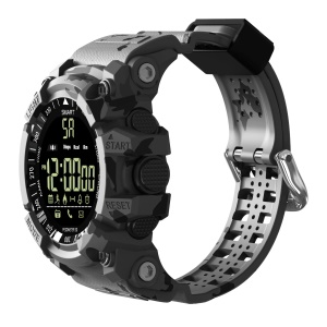 EX16Plus Tri-defense Camouflage Pattern 1.12 inch Liminous Dial 5 ATM Waterproof Bluetooth Smart Watch Support Call Reminder - Grey