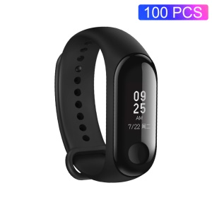100Pcs XIAOMI Mi Band 3 (International Version) Heart Rate Monitor Smart Wristband - Black