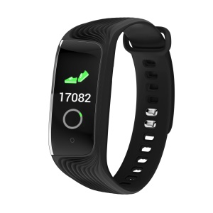 S4 0.96 inch Color Display Fitness Tracker Heart Rate Monitor IP67 Waterproof Bluetooth Wristband - Black